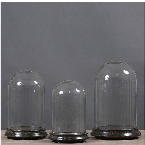 Glass Globes On Napoleon The 3rd Bases (set Of 3)