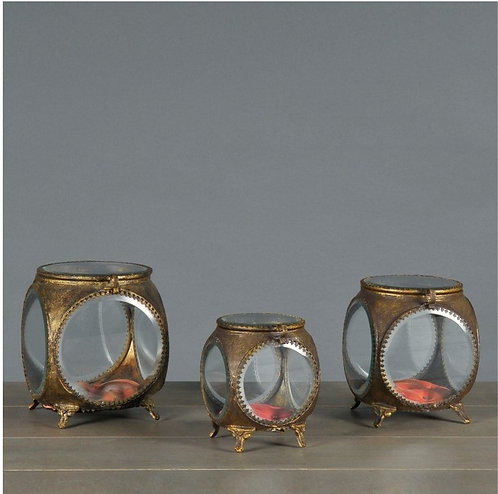 Round Jewelry Boxes (set df 3)