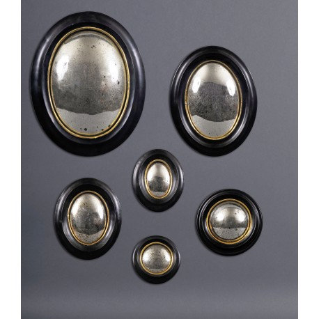 19th Century Witch Mirror Frames (set of 6)