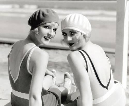A day at the ocean in the 1920s
