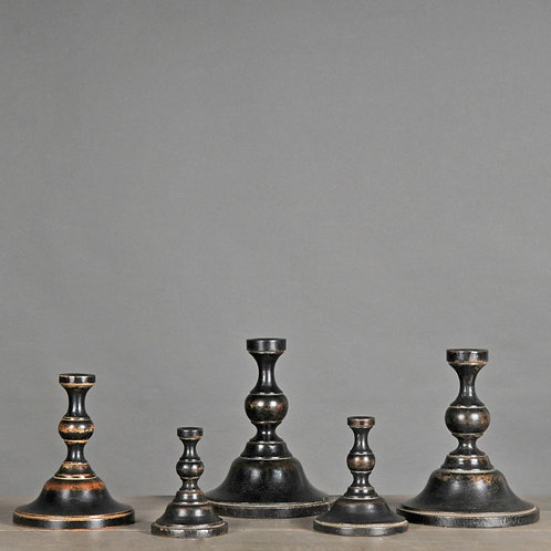 Set of 5 Sculpted Wood Bases