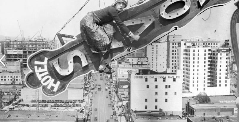 Downtown LA rocking the silent movies era