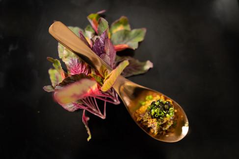 Classic Beef Tartare With Amur Ossetra Kaluga Caviar