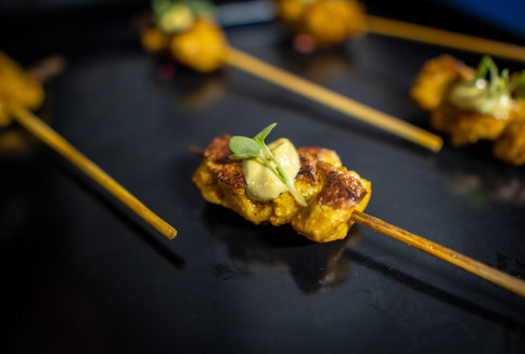 Madras Style Curried Chicken Skewer With Spicy Curry Mayonnaise