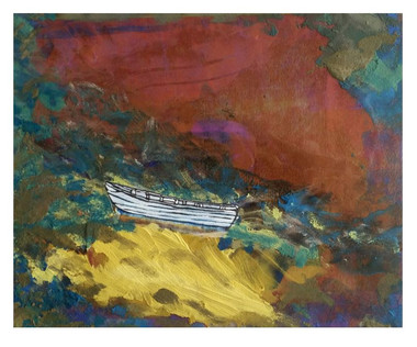 autumn boat, © 2011 Mike Sweeney