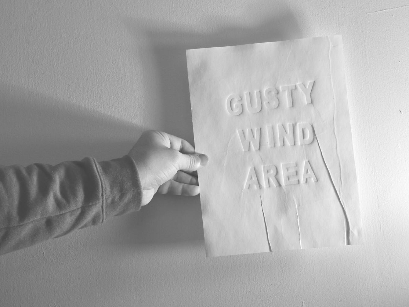 gusty wind area