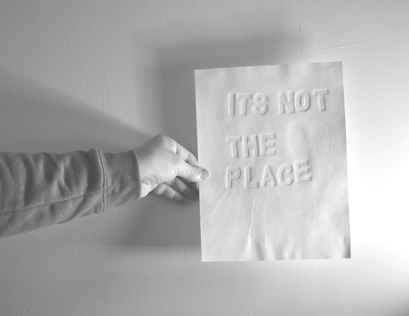 its not the place