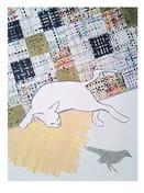 cat with bird, © 2013 Mike Sweeney