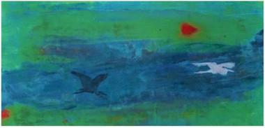 cranes in flight, © 2013 Mike Sweeney