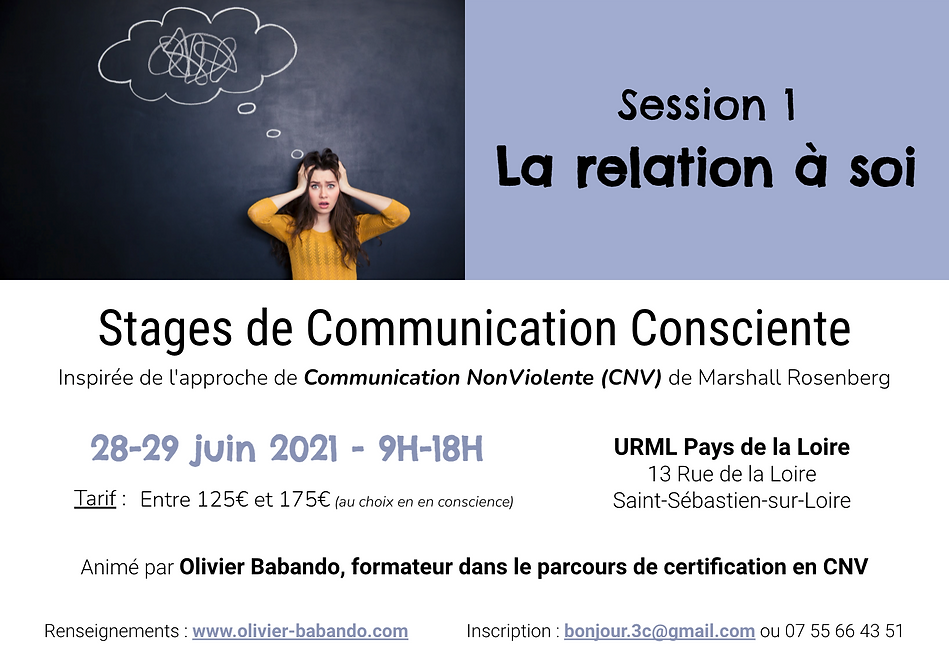 Flyer stage Com Consciente à Nantes (se