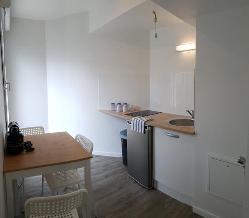 Paris 12; rénovation appartement pour remise en location, cuisine, revêtement de sol, peinture