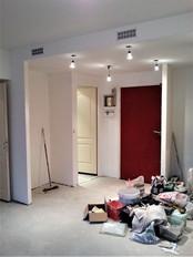 Paris 11, réhabilitation appartement, électricité et éclairage, faux plafond et peinture