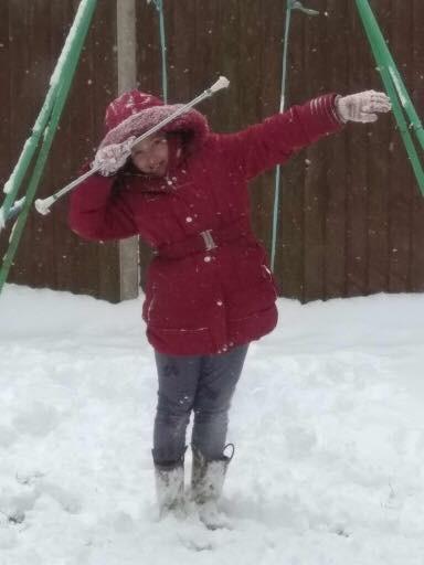 Jessica Snow twirl DAB!