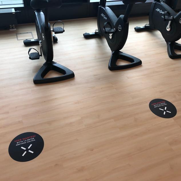 Fitnessstuido Beklebung