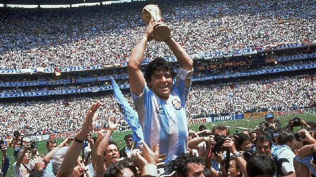Ретро футболка Аргентины ЧМ 1986 домашняя