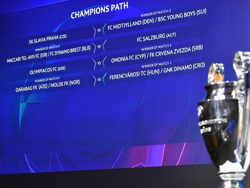 Жеребьевка раунда плей-офф Лиги чемпионов