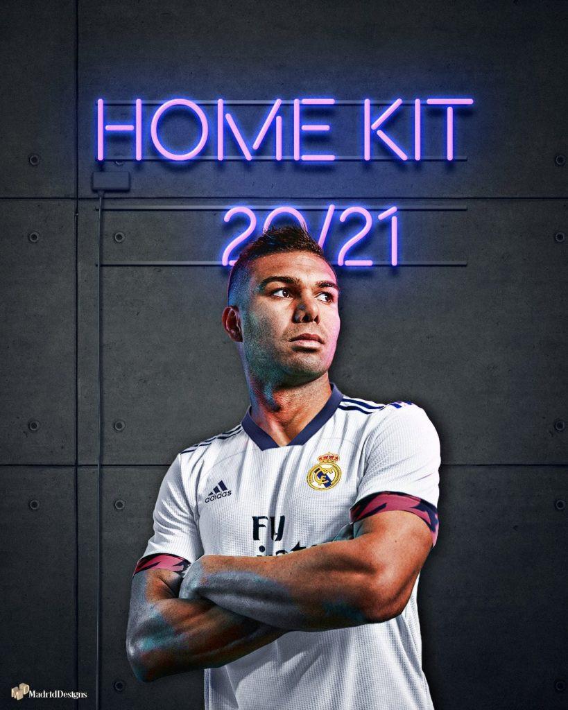 Стильная футбольная форма Реал Мадрид сезона 20/21 домашняя из инновационного мембранного