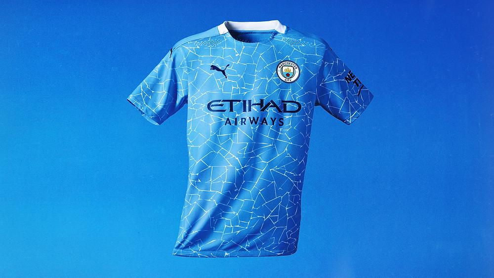 Стильная футбольная форма Манчестер Сити сезона 20/21 домашняя из инновационного мембранного материала