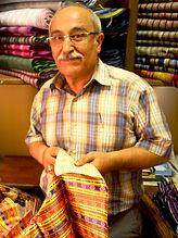 artisan of kutnu woven silk