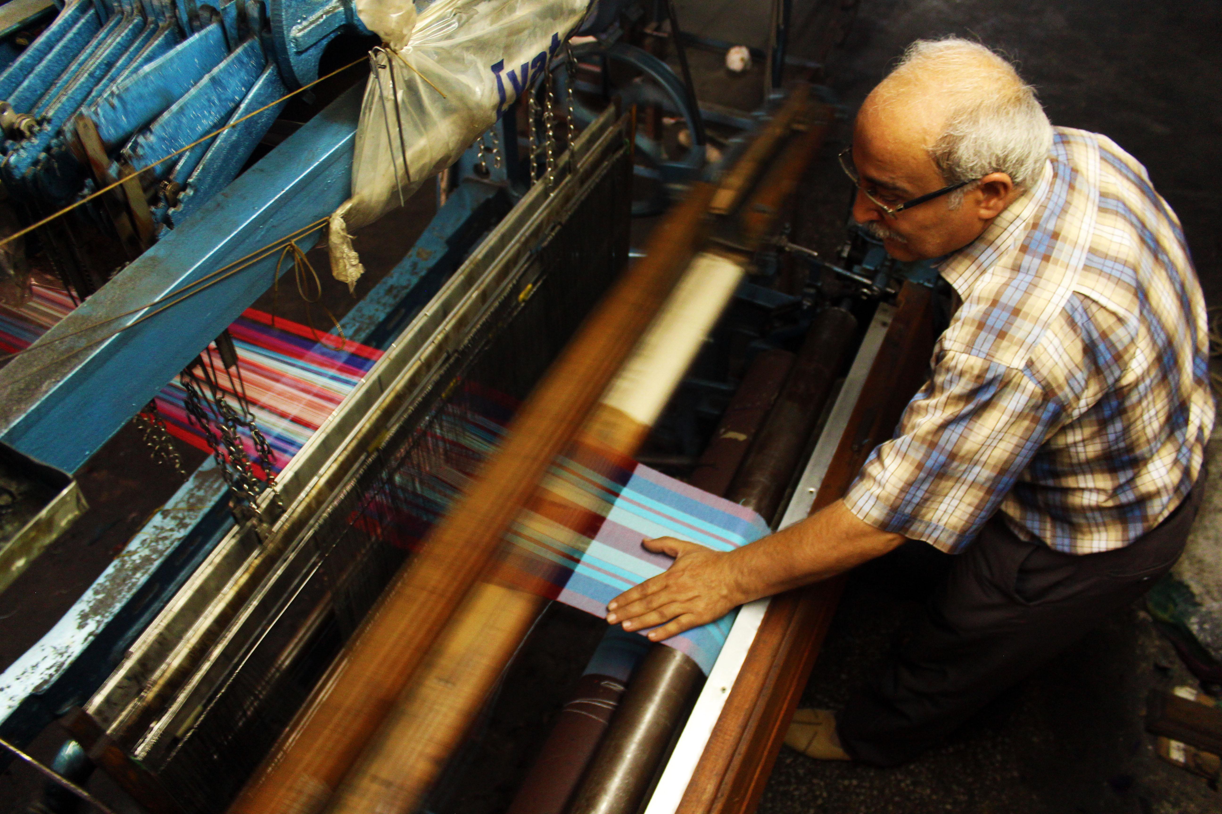 kutnu woven silk artisan