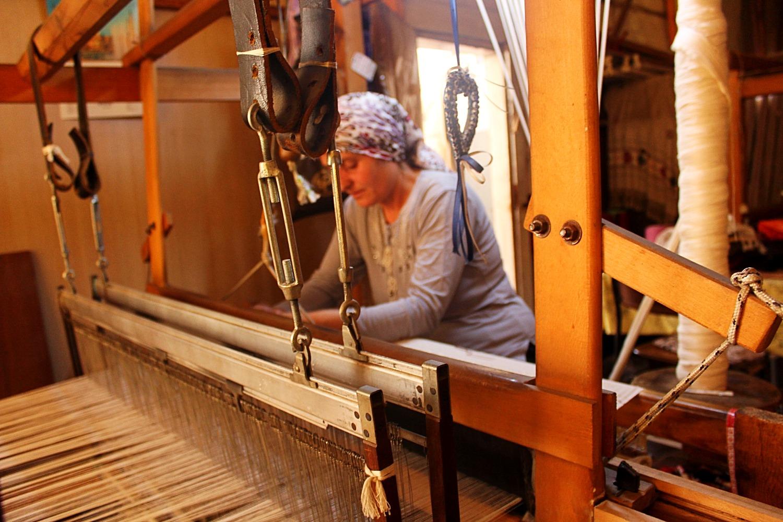 woven cotton scarves artisan