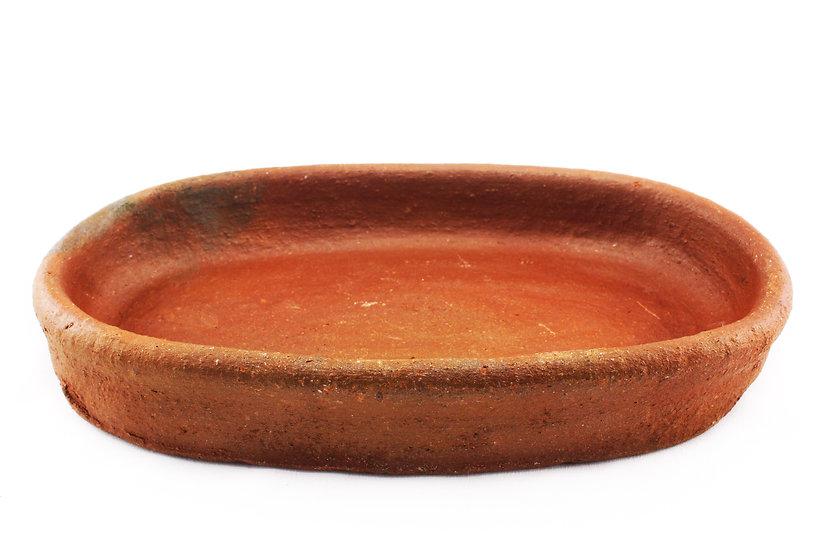 handmade clay pan