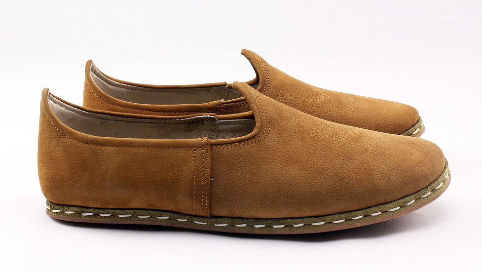 cairo camel handmade leather shoes for men side view
