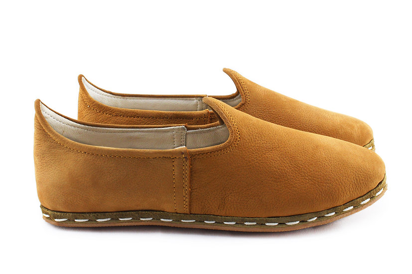 cairo camel handmade women leather shoes side view