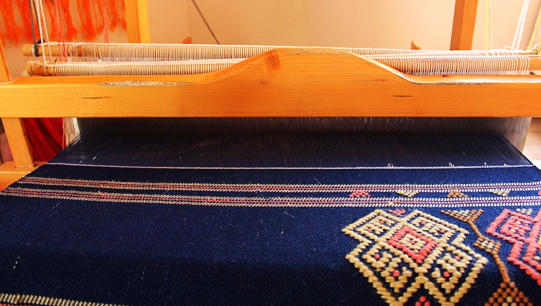 blue handmade kilim rug