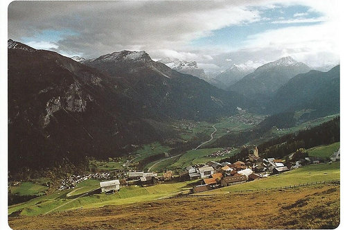 115 Kultur in Graubünden,z.B. Lohn, Bergdorf am Schamserberg