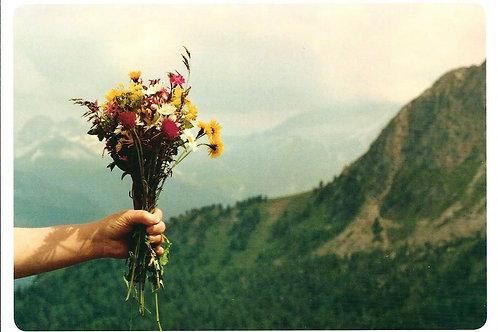 315 Kultur in Graubünden, zum Beispiel ein Gruss, ein Strauss, eine Bergblumenp.