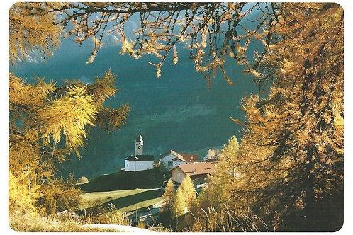 114 Kultur in Graubünden, z.B. Mathon, Bergdorf am Schamserberg