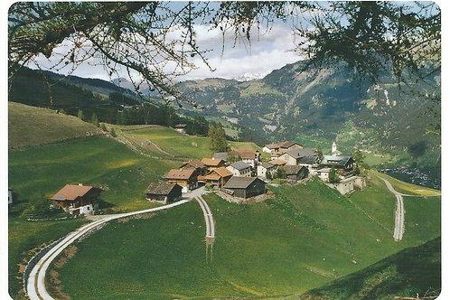 127 Kultur in Graubünden, zum Beispiel Wergenstein, Bergdorf im Schams