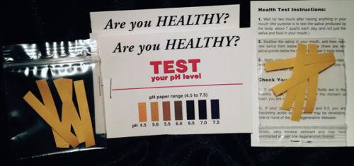 Saliva pH Test Kit
