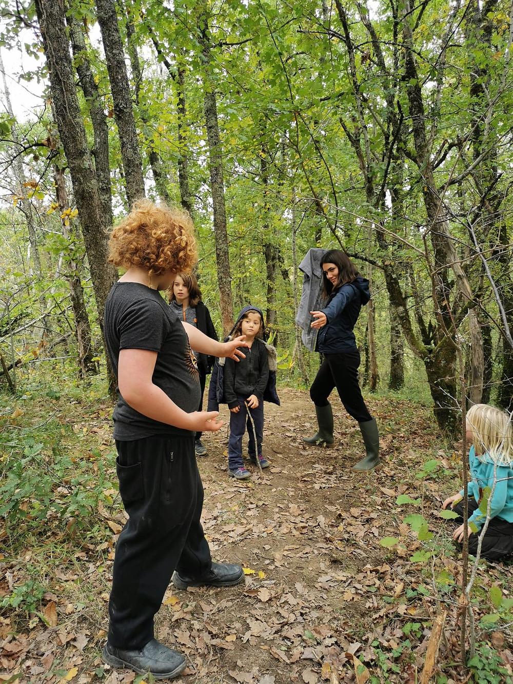 cours de self-defense en forêt