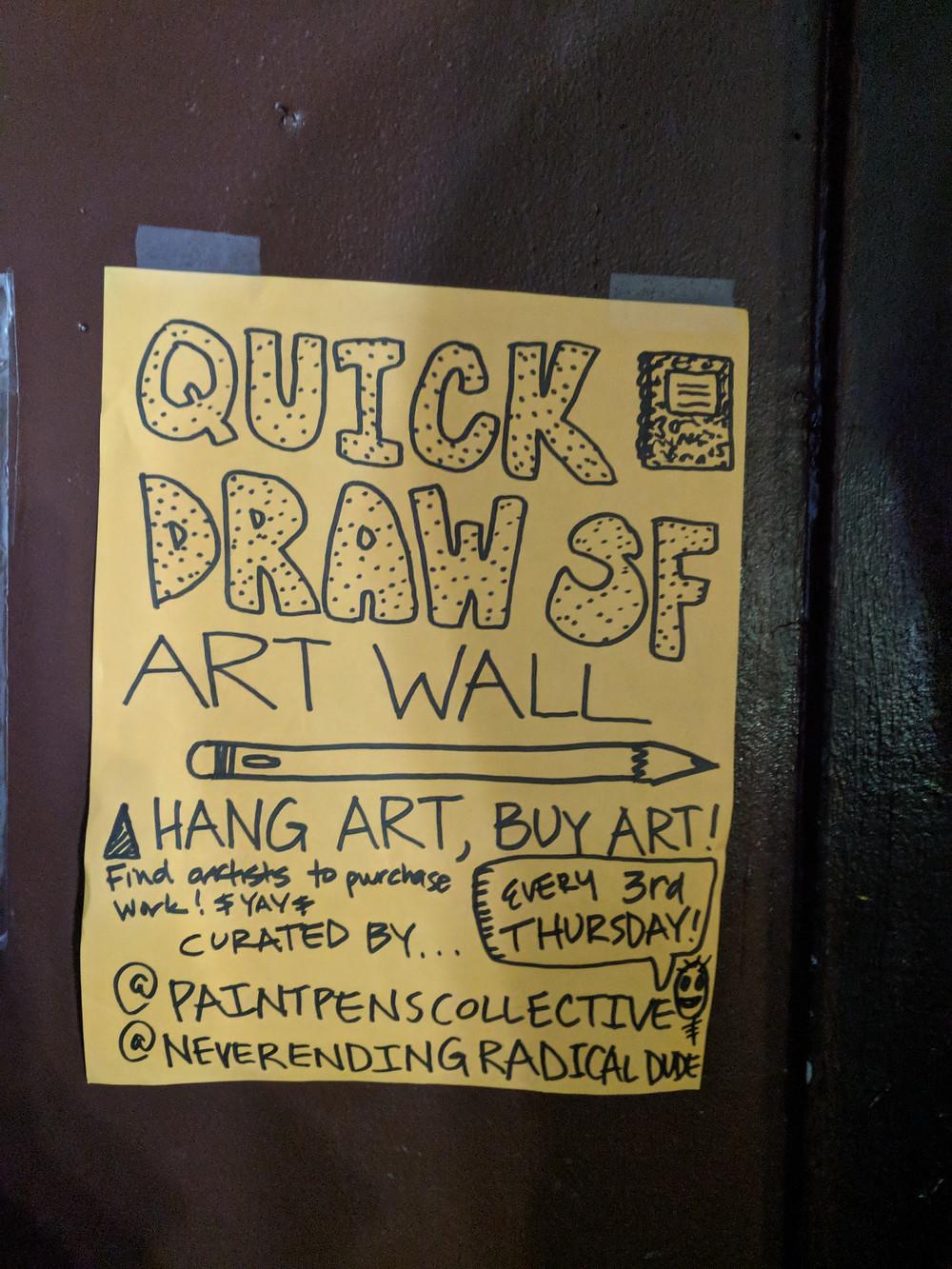 Quick Draw SF Art Wall