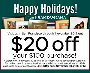 Frame o rama framers corner blog holiday framing starting now solutioingenieria Images