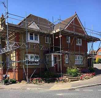 domestic scaffolding, scaffold house, handrail