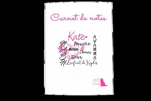 Carnet de notes prénoms Kepler