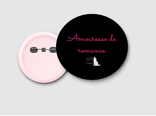 Badge amoureuse de romance
