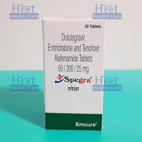 SPEGRA (долутегравир 50 мг, тенофовир алафеномид 25 мг, эмтрицитабин 200 мг.)