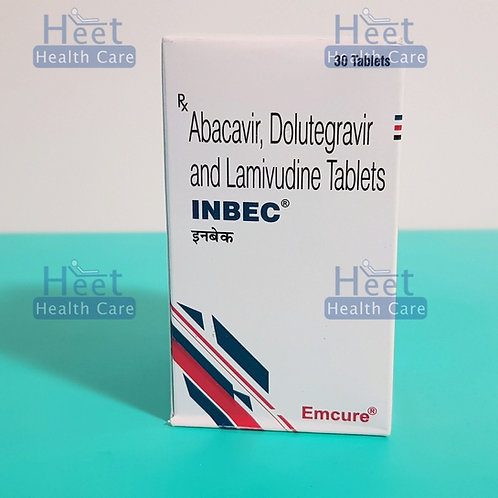 INBEC (долутегравир 50 мг, ламивудин IP 300 мг, абакавир 600 мг.)