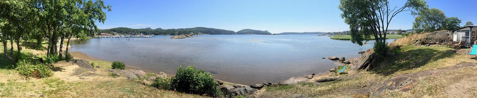 Utsikt fra Tingsaker Camping