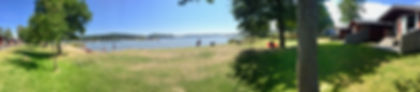 Panoramabilde hytter strand