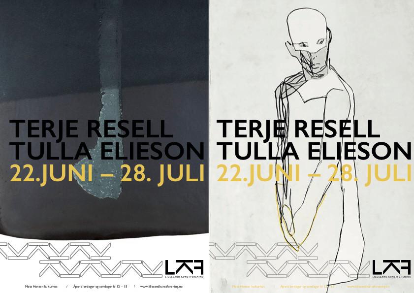 Lillesand kunstforening er svært glad for å kunne presentere kunstnerne Tulla Elieson og Terje Resell som årets sommerutstillere.