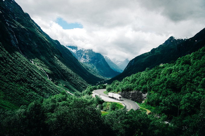 Road, Landscape, Norway