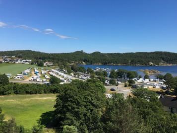 Oversiktsbilde av campingplassen