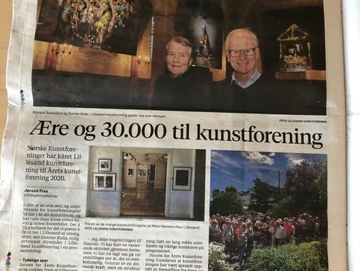"""""""Ære og 30.000 til kunstforening"""""""