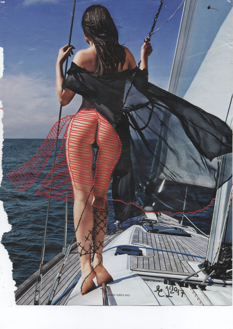 Embroidery on Page 29, Sara Merchink (Playboy Girls of 2013), production 2017