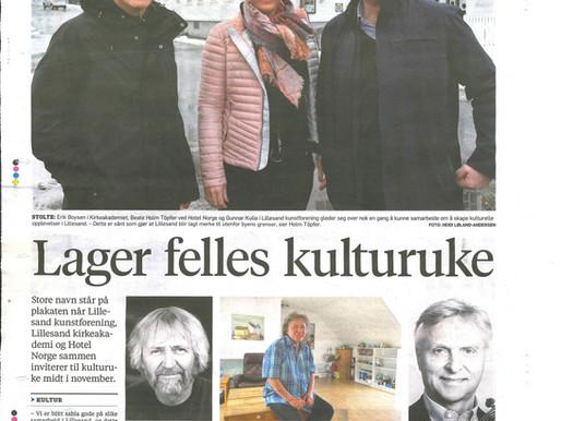 """""""Lager felles kulturuke"""" - Lillesands-Posten"""